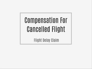 Late Flight Compensation