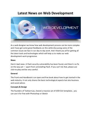 Latest News on Web Development
