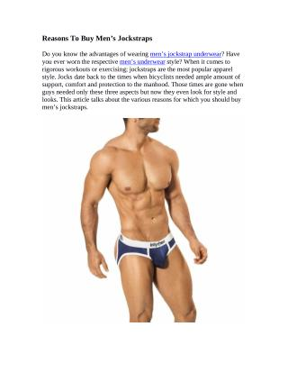 Reasons To Buy Men's Jockstraps