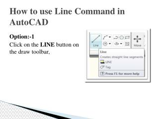 Commands in AutoCAD