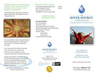 The river source 12-step holistic drug & alcohol treatment center