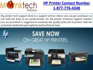 best and easy solution for the HP Printer Phone Number 1-877-776-4348