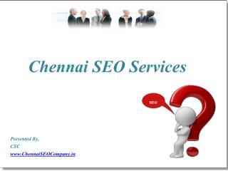 Chennai SEO Services