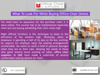 Mahmayi Office Furniture - Leading Office Chair Suppliers in UAE