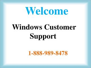 1-888-989-8478 Window XP Tech Support Number