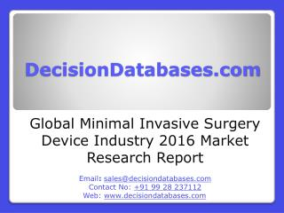 Minimal Invasive Surgery Device Market International Analysis and Forecasts 2021