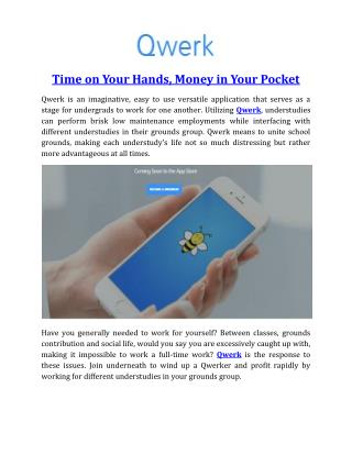 Time on Your Hands, Money in Your Pocket