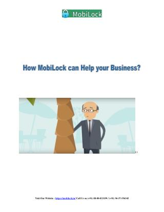 How MobiLock can help your business?