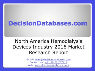 North America Hemodialysis Devices Industry- Size, Share and Market Forecasts 2021