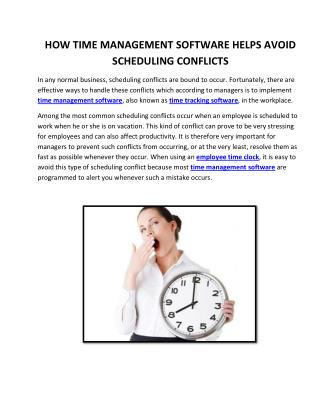 How Time Management Software Helps Avoid Scheduling Conflicts