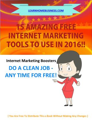 15 No Cost Internet Marketing Tools That You Can Use Right Now