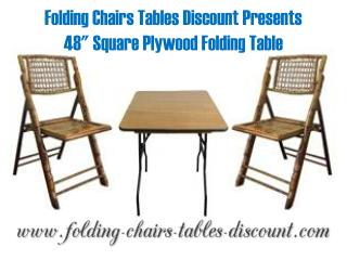 Folding Chairs Tables Discount Presents 48 Inches Square Plywood Folding Table
