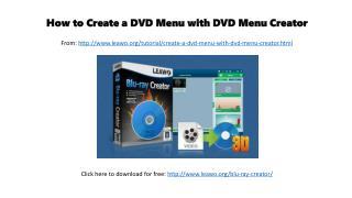 How to create a dvd menu with dvd menu creator