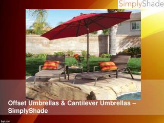 Offset Umbrellas & Cantilever Umbrellas – SimplyShade
