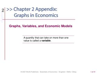 Graphs, Variables, and Economic Models