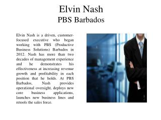 Elvin Nash PBS Barbados