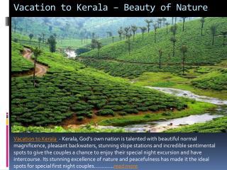 Vacation to kerala – beauty of nature