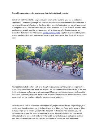 central park bike rentals