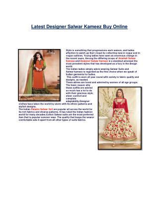 Designer Salwar Suits & Salwar kameez online shopping store| Designer Suit