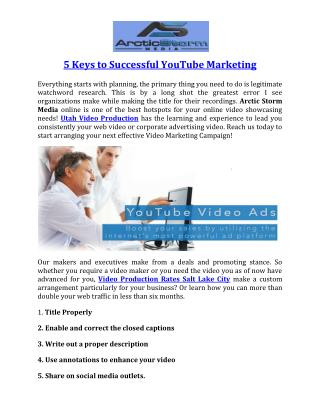 5 Keys to Successful YouTube Marketing