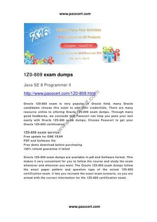 Oracle 1Z0-809 exam dumps