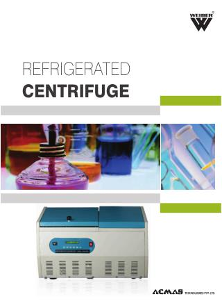 Refrigerated Centrifuge View Online Product Catelog | ACMAS India