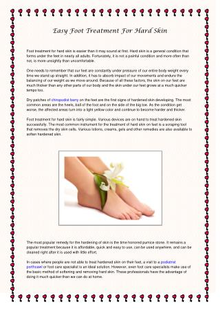 Easy Foot Treatment For Hard Skin
