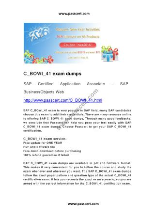 SAP C_BOWI_41 exam dumps