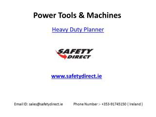 Heavy Duty Planner in Ireland at SafetyDirect