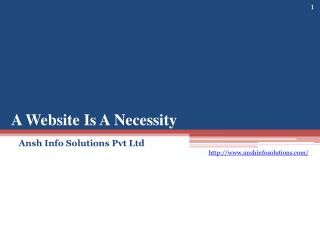 A Website Is A Necessity