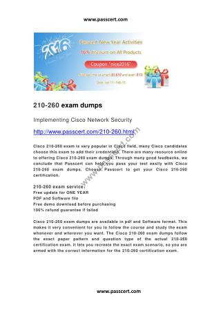 Cisco 210-260 exam dumps