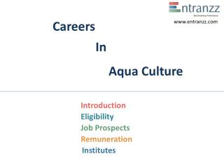 Careers In Aqua Culture
