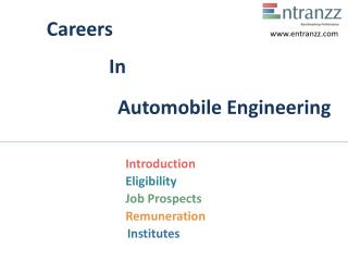 Careers In Automobile Engineering