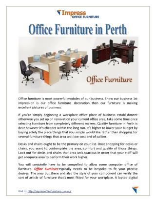 Office Furniture in Perth