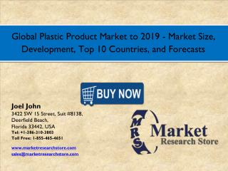 Global Plastic Product Market  2016  Size, Development, Share,Growth Analysis Forecast 2019