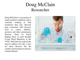Doug McClain Researcher