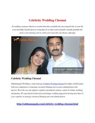 Celebrity Wedding Chennai