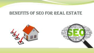Benefits of SEO For Real Estate