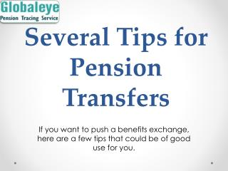 Best Pension Transfer Scheme-Globaleye