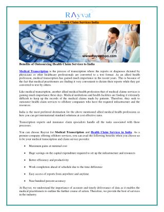 Outsource Health Claims Services