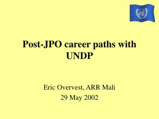 Post-JPO career paths with UNDP