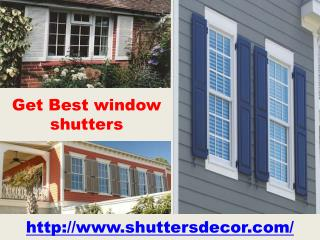 Get Best window shutters