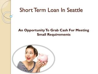 Small Loan To Let You Meet Your Short Term Worries