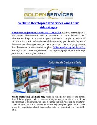 Website Development Services And Their Advantages