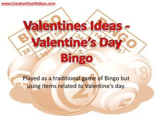 Valentines Ideas - Valentine's Day Bingo