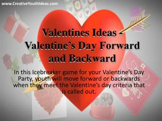 Valentines Ideas - Valentine's Day Forward and Backward
