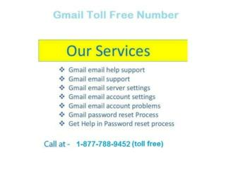 Toll Free Gmail Number 1-8777889452(Free)