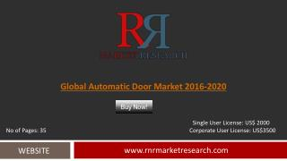 Automatic Door Market Global Forecasts for 2016 – 2020
