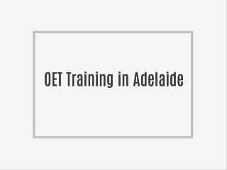 OET preparation course in Australia