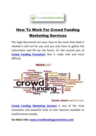 How To Work For Crowd Funding Marketing Services